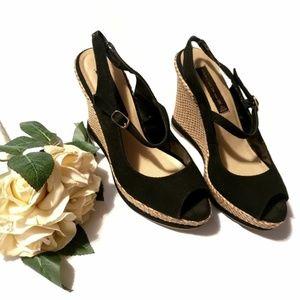 STEVEN Steve Madden Slingback Wedge Sandal Shoe